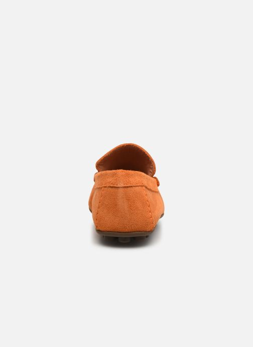 Mocasines Marvin&Co Sulliver Naranja vista lateral derecha