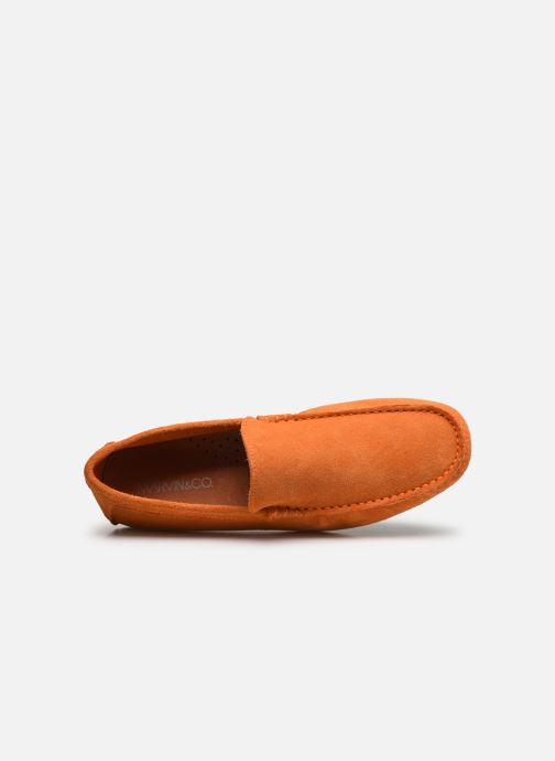 Mocasines Marvin&Co Sulliver Naranja vista lateral izquierda