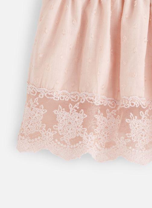 Vêtements Moon Paris Skirt hazel Rose vue portées chaussures
