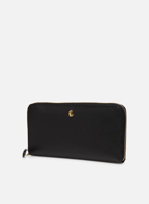 Pelletteria Lauren Ralph Lauren ZIP CONT WALLET Nero modello indossato
