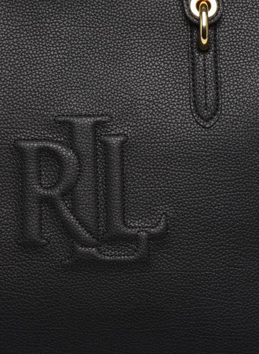 Bolsos de mano Lauren Ralph Lauren HIGHFIELD 36 TOTE ZIP Negro vista lateral izquierda