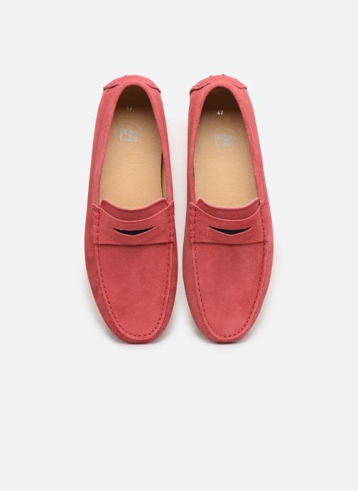 Mocassins Mr SARENZA Suttini Rose vue portées chaussures