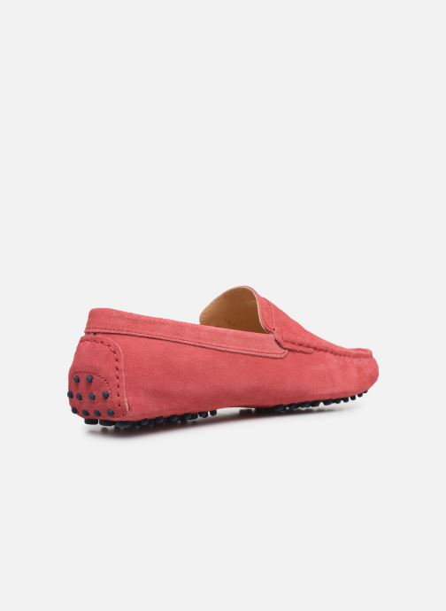 Mocassins Mr SARENZA Suttini Rose vue face