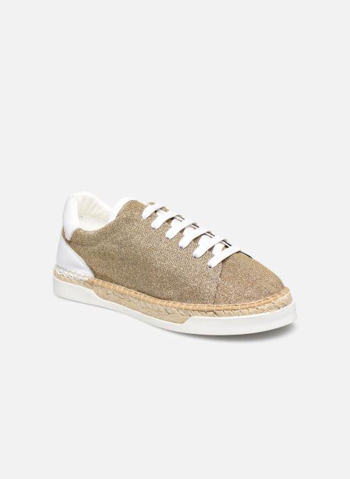 Sneakers Canal St Martin LANCRY Guld og bronze detaljeret billede af skoene
