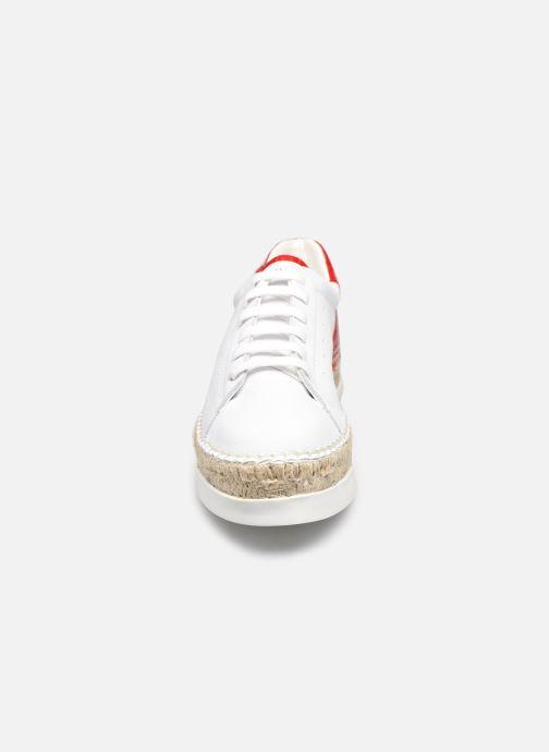 Baskets Canal St Martin LANCRY Blanc vue portées chaussures