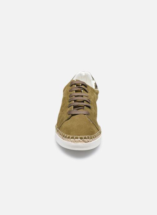 Baskets Canal St Martin LANCRY Vert vue portées chaussures
