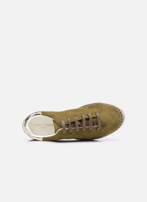 Sneakers Canal St Martin LANCRY Verde immagine sinistra