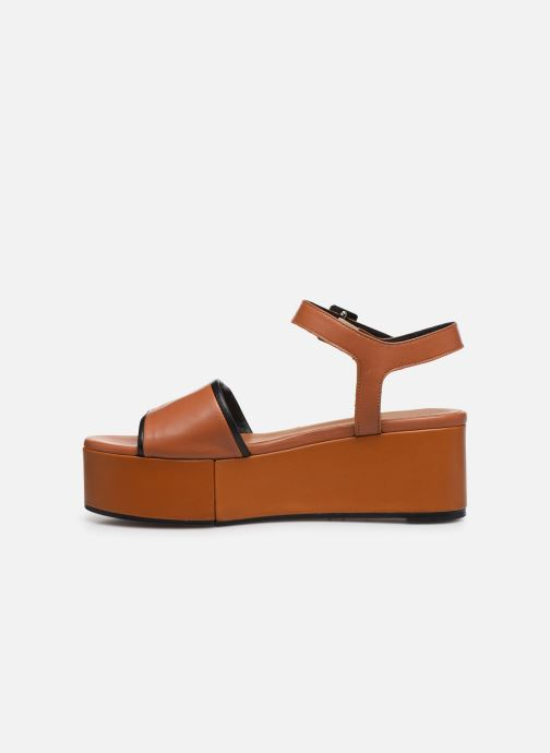 Sandali e scarpe aperte Clergerie MONI Marrone immagine frontale