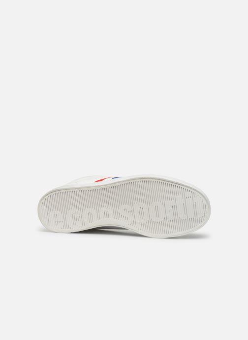 Baskets Le Coq Sportif Courtflag Blanc vue haut
