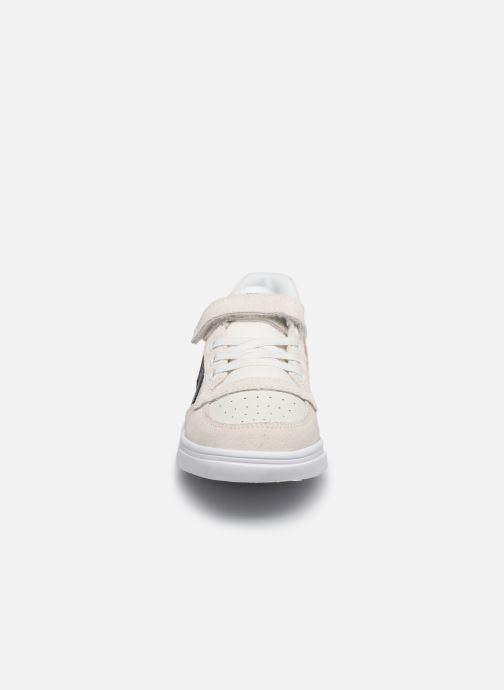Sneakers Hummel Slimmer Stadil Leather Low Jr Bianco modello indossato