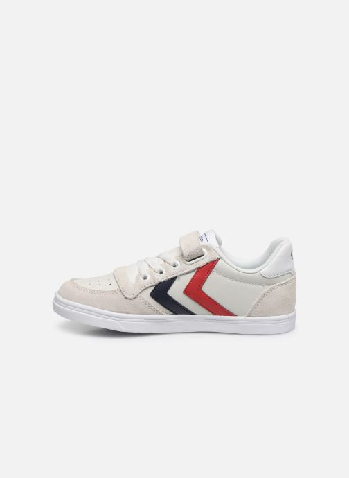 Sneakers Hummel Slimmer Stadil Leather Low Jr Wit voorkant