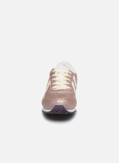 Baskets Hummel Reflex Glitter Jr Or et bronze vue portées chaussures