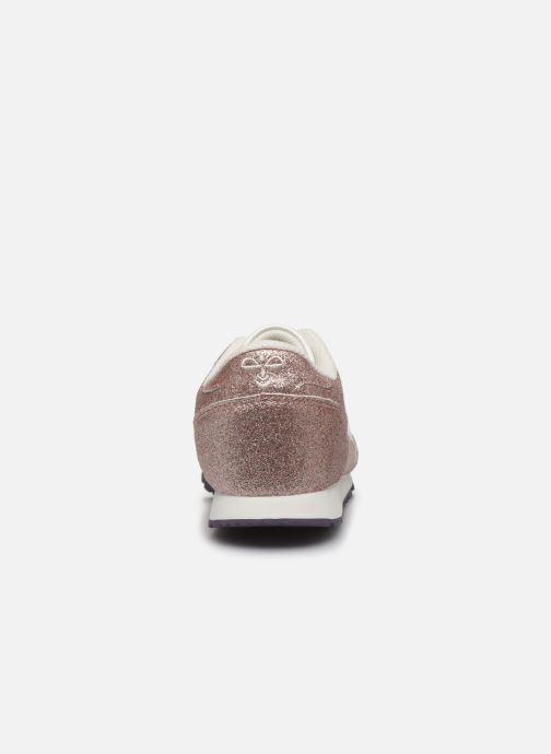Baskets Hummel Reflex Glitter Jr Or et bronze vue droite