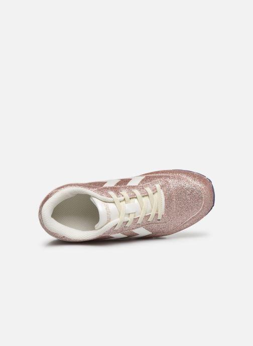 Baskets Hummel Reflex Glitter Jr Or et bronze vue gauche