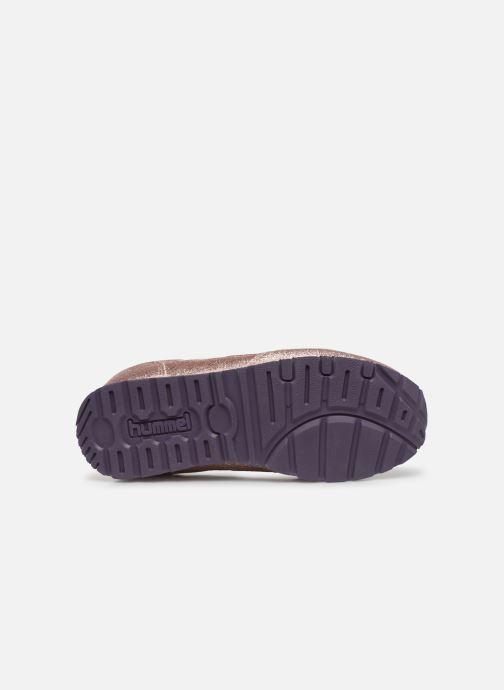 Baskets Hummel Reflex Glitter Jr Or et bronze vue haut