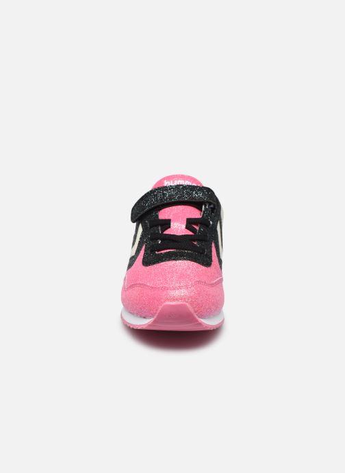 Sneaker Hummel Reflex Glitter Jr rosa schuhe getragen