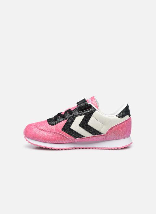 Sneaker Hummel Reflex Glitter Jr rosa ansicht von vorne