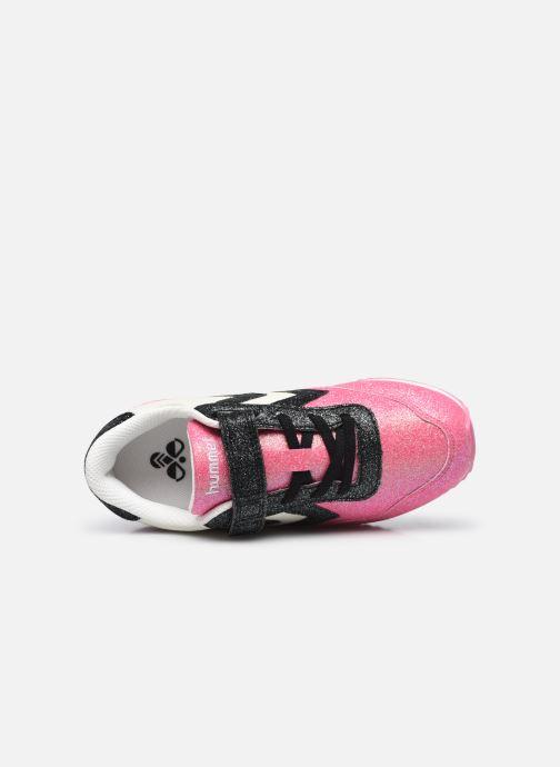 Sneaker Hummel Reflex Glitter Jr rosa ansicht von links