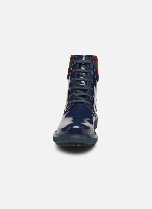 Stiefeletten & Boots Geox D Asheely B D847AB blau schuhe getragen