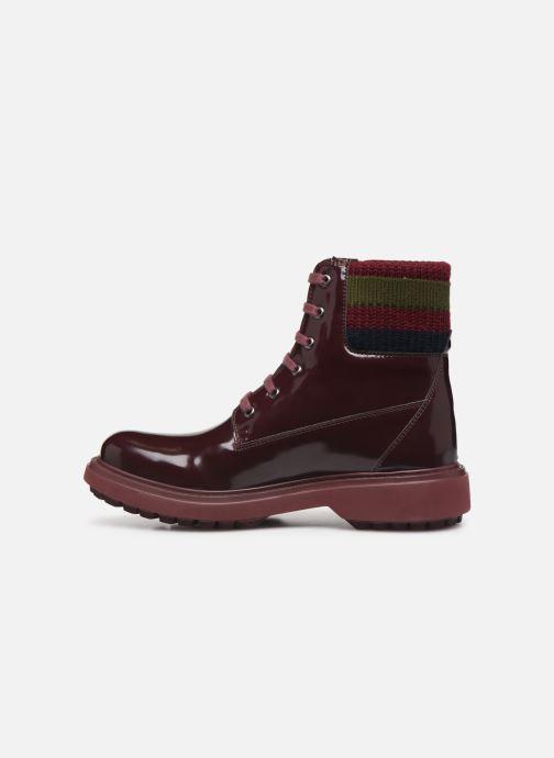 Bottines et boots Geox D Asheely B D847AB Bordeaux vue face