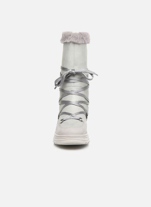 Bottines et boots Geox D Hosmos B Abx B D84AUB Gris vue portées chaussures