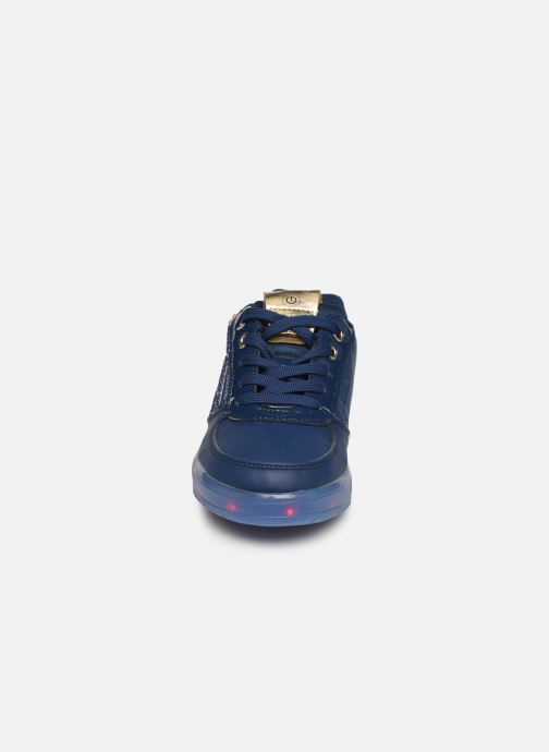 Baskets Geox J Kommodor Girl B J844HB Bleu vue portées chaussures