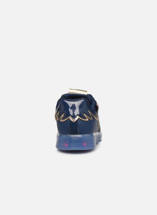 Sneaker Geox J Kommodor Girl B J844HB blau ansicht von rechts