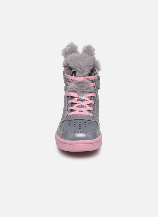 Baskets Geox J Djrock Girl E J844ME Gris vue portées chaussures