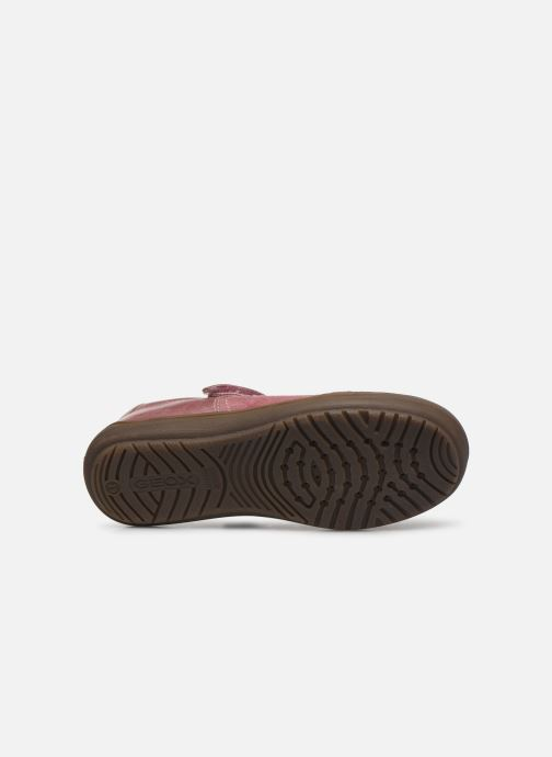 Ballet pumps Geox J Hadriel Girl B J847VB Pink view from above