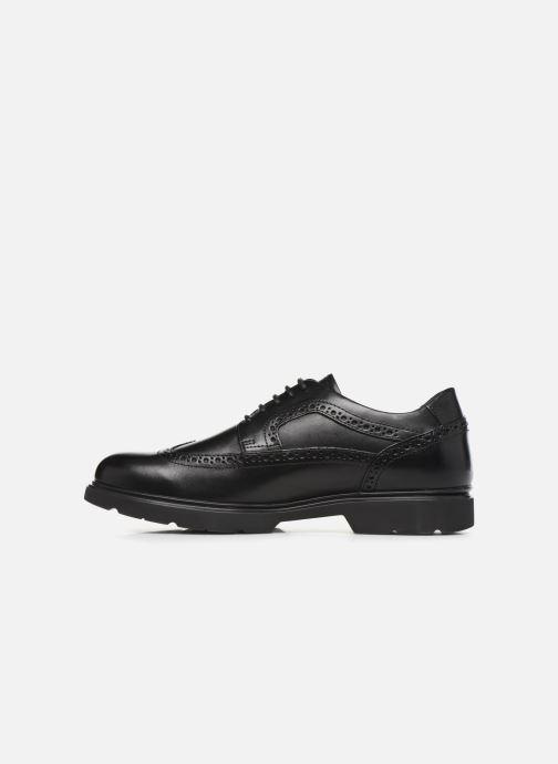 Chaussures à lacets Geox U Arrall B U845RB Noir vue face