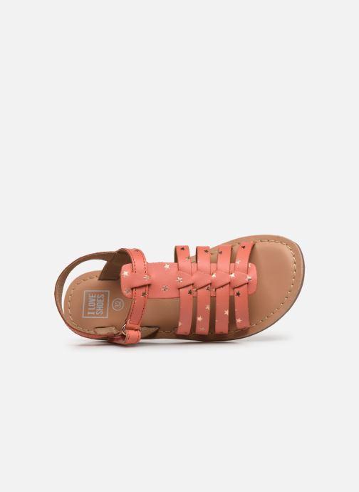 Sandales et nu-pieds I Love Shoes KATELLI Orange vue gauche
