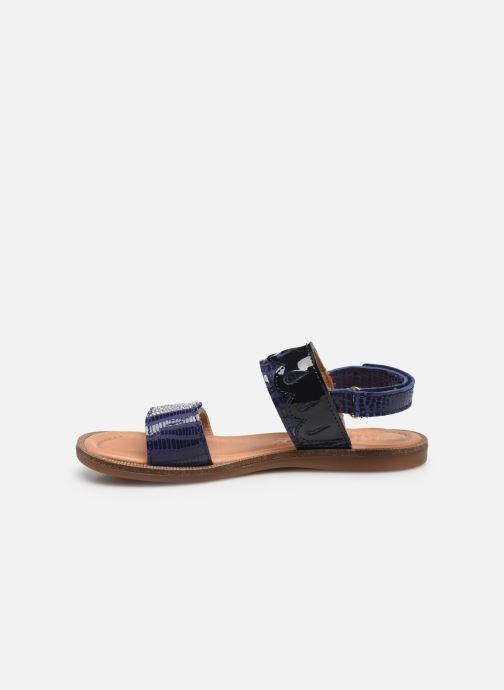 Sandalen Bisgaard Belle blau ansicht von vorne