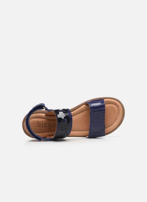Sandalias Bisgaard Belle Azul vista lateral izquierda