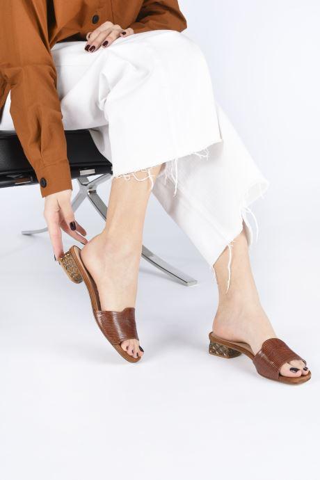 Clogs & Pantoletten Unisa DAVEPA braun ansicht von unten / tasche getragen