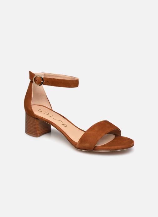 Sandales et nu-pieds Unisa GELETE Marron vue détail/paire