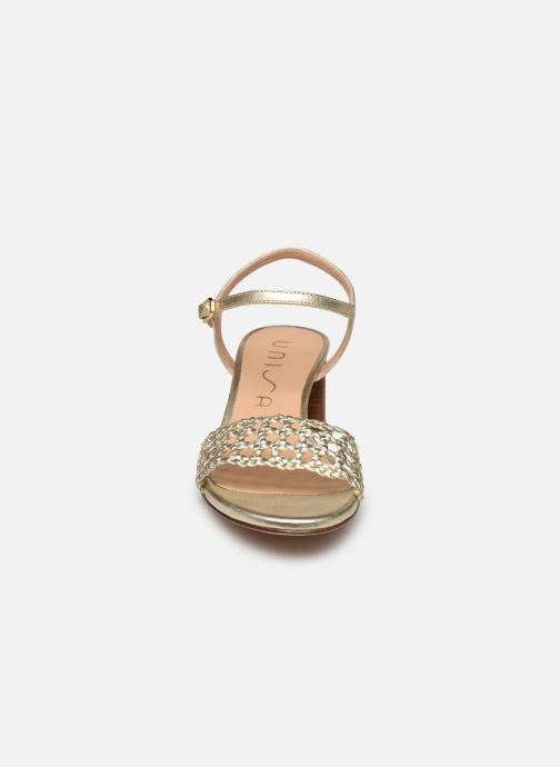 Sandales et nu-pieds Unisa GITA Or et bronze vue portées chaussures