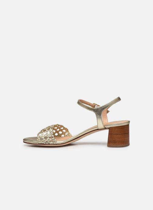 Sandales et nu-pieds Unisa GITA Or et bronze vue face