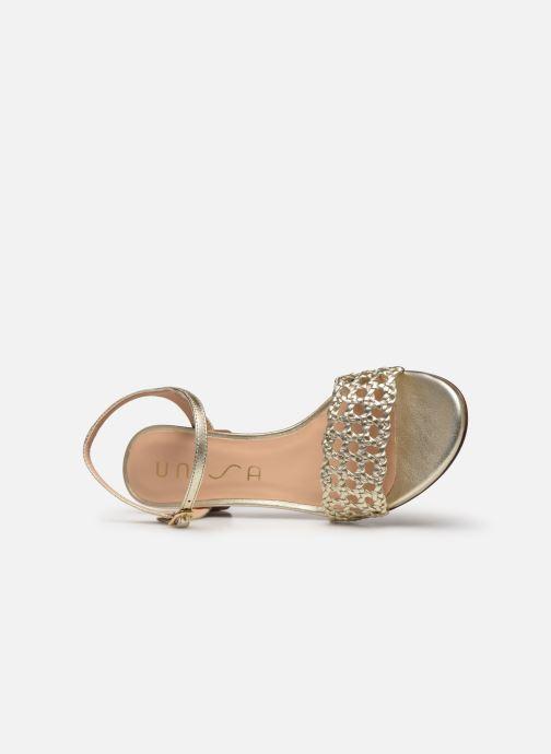 Sandales et nu-pieds Unisa GITA Or et bronze vue gauche