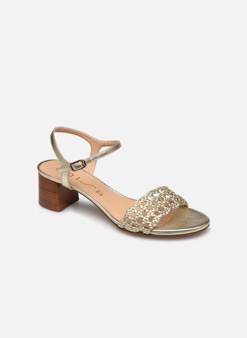 Sandales et nu-pieds Unisa GITA Or et bronze vue détail/paire