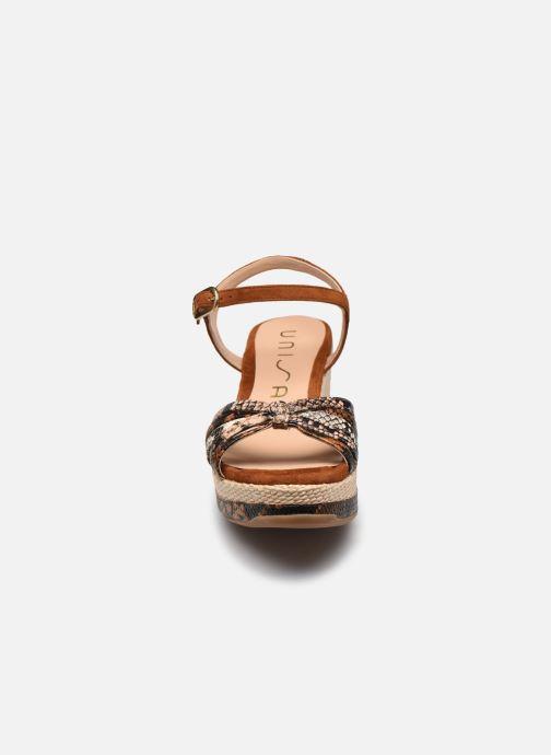 Espadrilles Unisa KIO Marron vue portées chaussures
