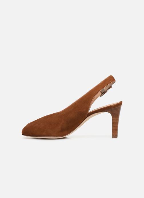 Zapatos de tacón Unisa LOBATO Marrón vista de frente