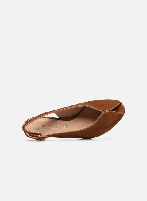 Zapatos de tacón Unisa LOBATO Marrón vista lateral izquierda