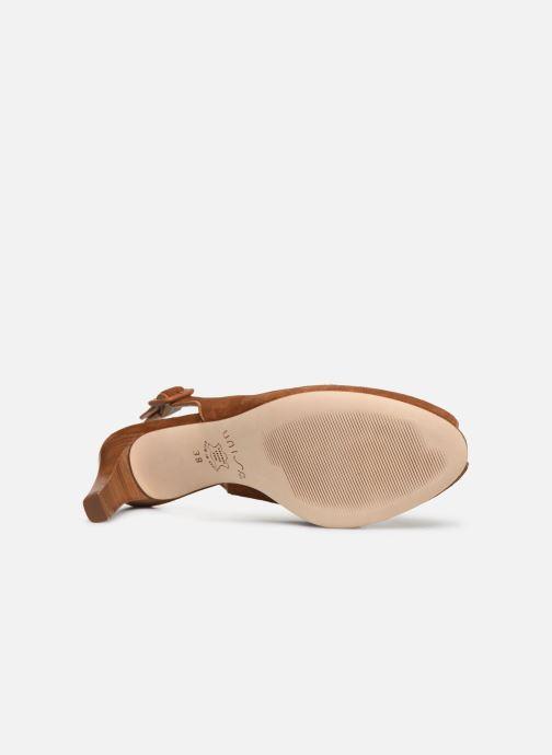 Zapatos de tacón Unisa LOBATO Marrón vista de arriba