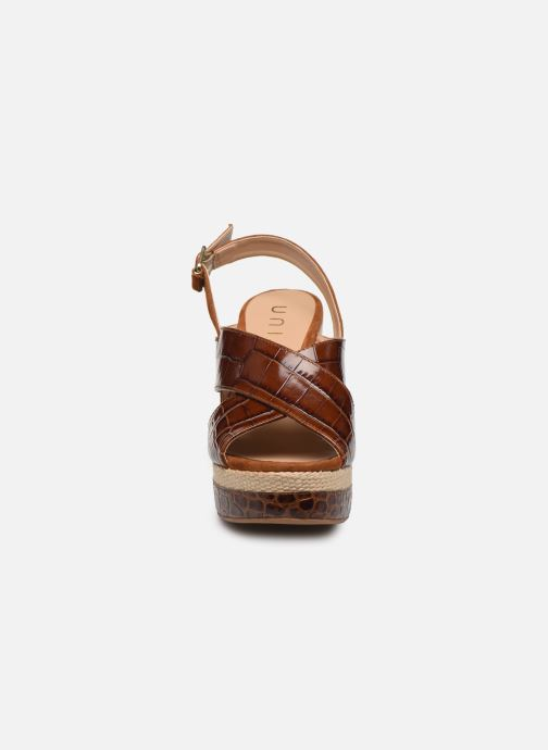 Scarpe di corda Unisa MIGUEL Marrone modello indossato