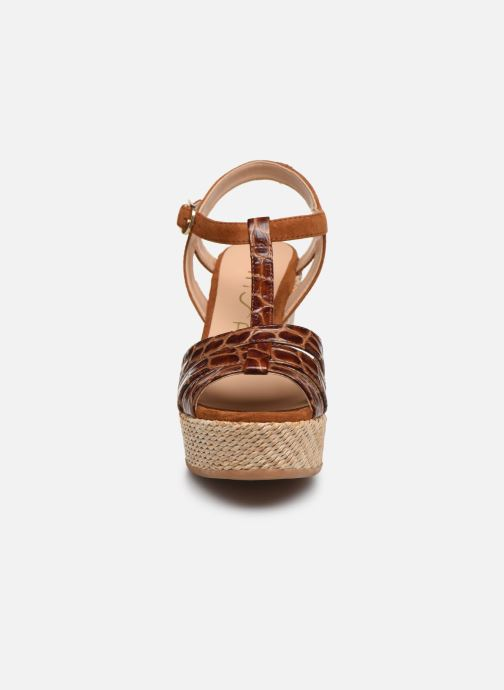 Espadrilles Unisa MOLINO Marron vue portées chaussures