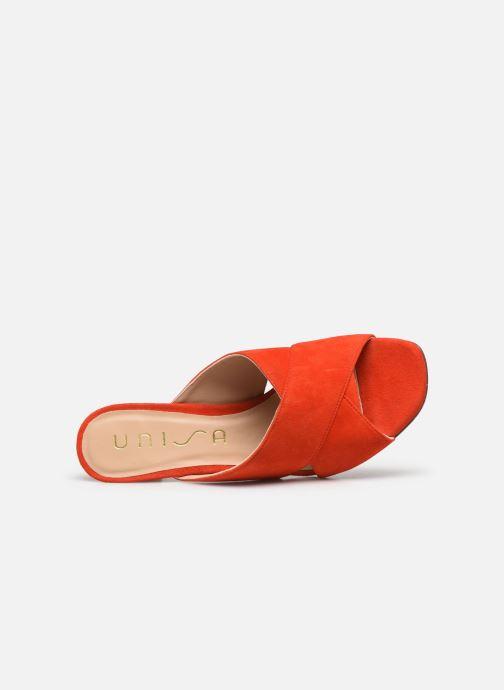 Clogs & Pantoletten Unisa MOTRIL orange ansicht von links