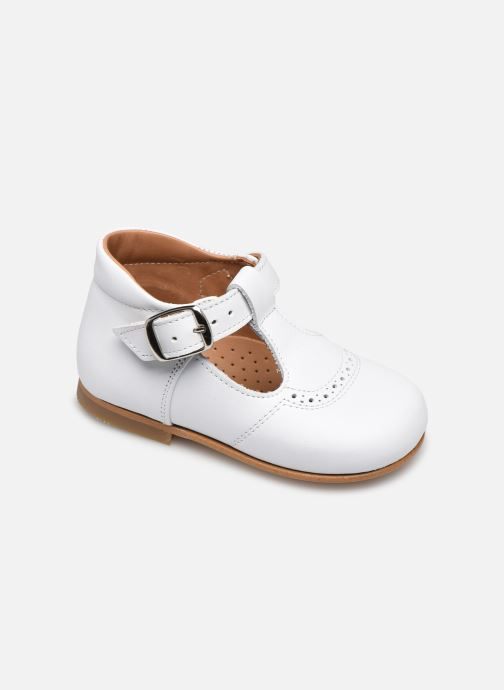 Ballerinaer Cendry Emma Hvid detaljeret billede af skoene