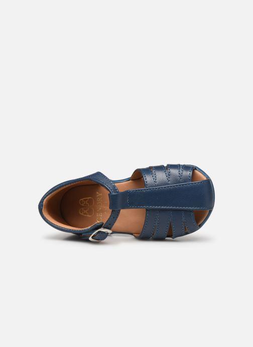 Sandalias Cendry Jean Azul vista lateral izquierda