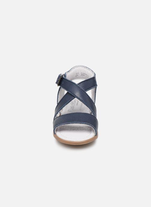 Sandales et nu-pieds Little Mary Georges Bleu vue portées chaussures