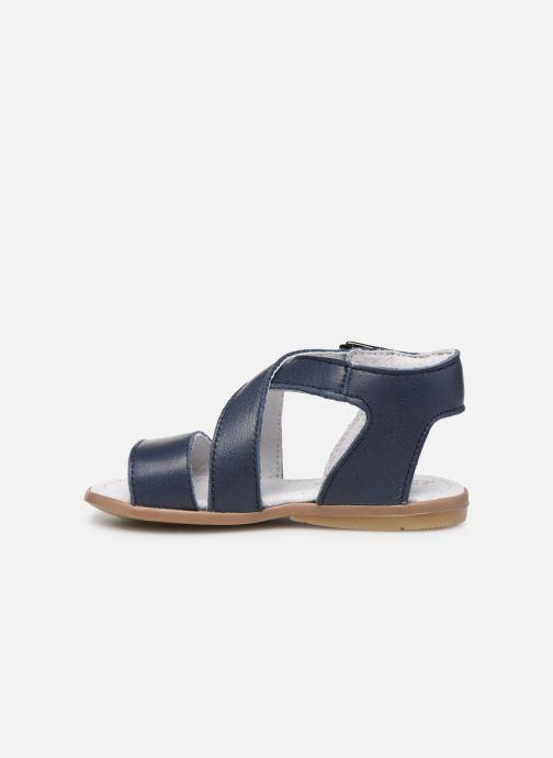Sandales et nu-pieds Little Mary Georges Bleu vue face
